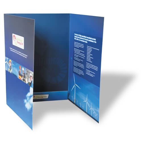 Soft Touch Interlocking Presentation Folders