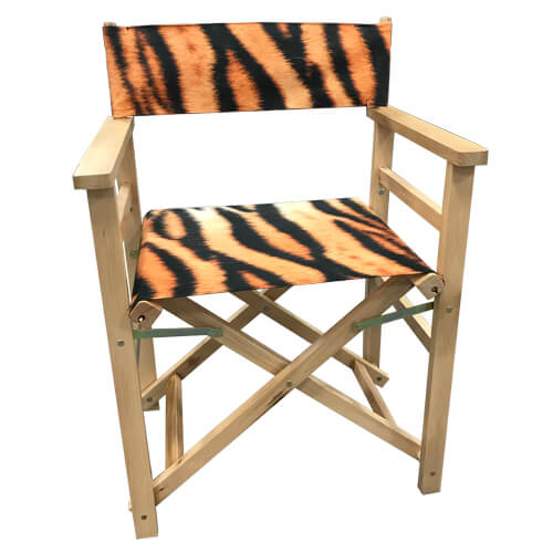Wooden Directors Chair with fabrics as seats