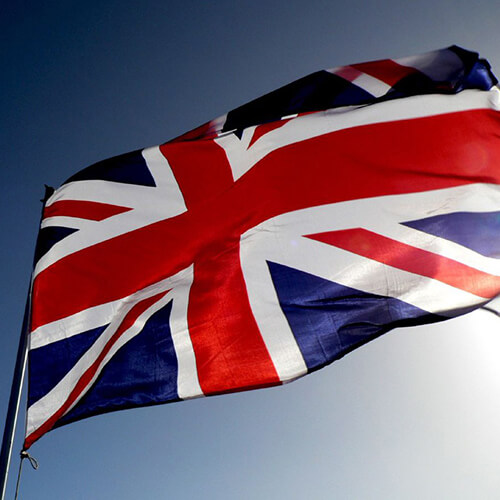 A flag of United Kingdom