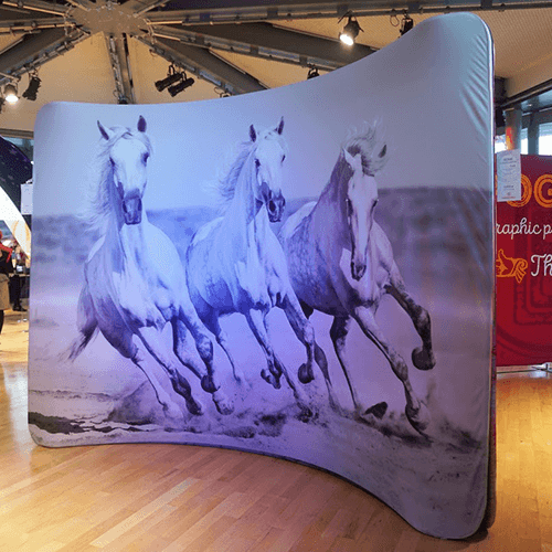 Fabric Backdrop with horse design