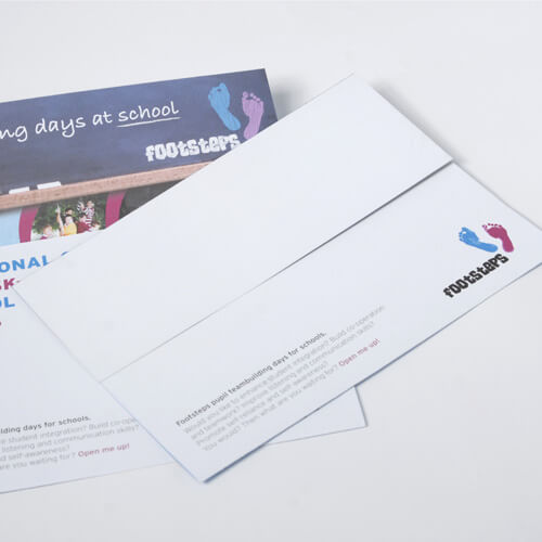 Uncoated One-piece Mailers with print