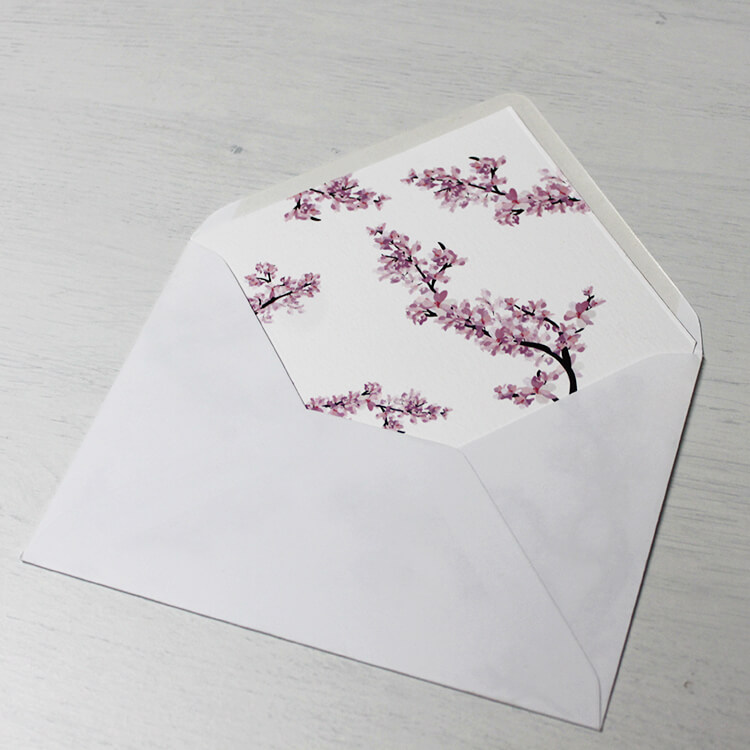 printed envelope liner white