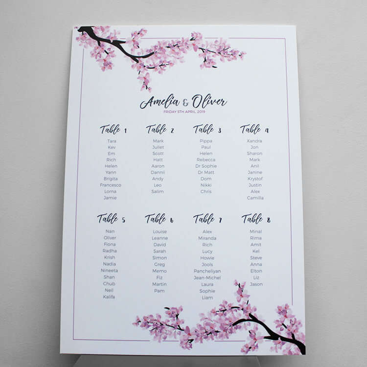 table plan card