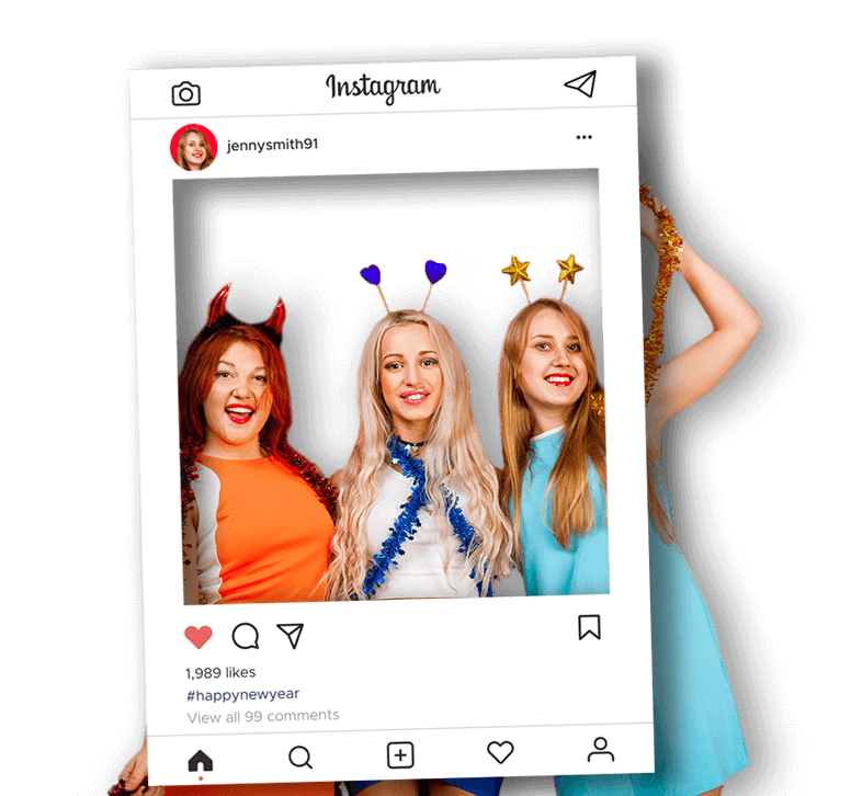 Party Selfie Frames with Instagram Template