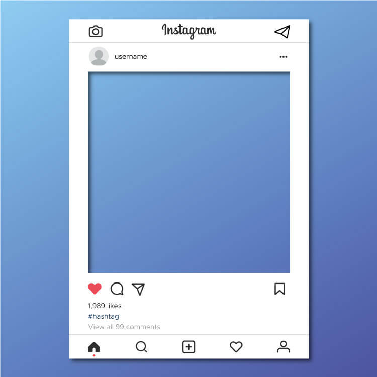 Instagram In Selfie Board Template