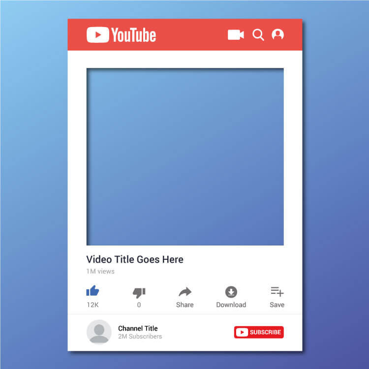 Youtube Sample Post Template