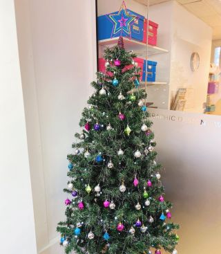 Even our Christmas tree is on brand....#wimbledonbusinessstudio #wbs #wimbledon #christmastree