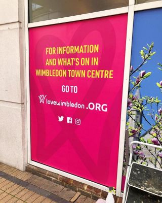 Our latest window vinyl print & install for @LoveWimbledon is up!...#signage #printing #installation #windowvinyl #vinylprint #wimbledon #lovewimbledon