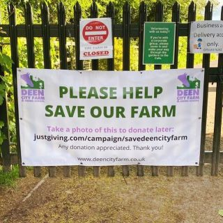 Vinyl banner printed for @deencityfarm. Please visit their bio to make a donation. If you would like a similar banner please contact us....#vinylbanner #vinyl #banner #bannerprinting #printanddisplay #printing #print #wimbledon #wimbledonprint